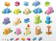 Link toCity building vectors free