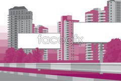 Link tovector billboards and buildings City