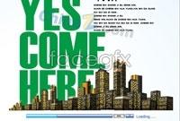 Link toCity garden brochure design vector
