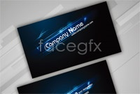 Link toCity lights business card template vector
