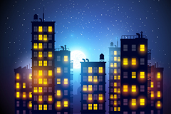 Link toCity midnight background vector