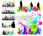 Link toCity people silhouettes vector