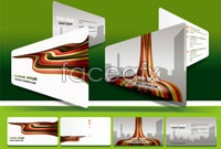 Link toCity streamlines business card background vector ii