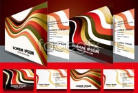Link toCity streamlines business card background vector