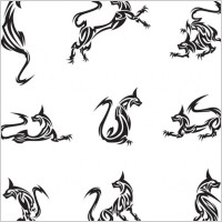 Link toClassic animal tattoo patterns 01 vector