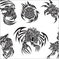 Link toClassic animal tattoo patterns 03 vector