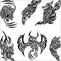 Link toClassic animal tattoo patterns 04 vector
