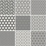Link toClassic black and white patterned background vector