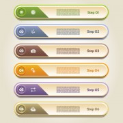Link toClassic business numbered vector banners 03 free