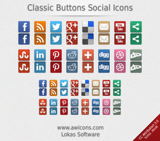 Link toClassic buttons social icons