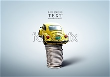 Link toClassic car and wire rope psd