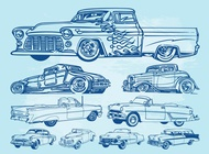 Link toClassic cars graphics vector free