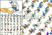 Link toClassic cartoon character donald duck shape vector