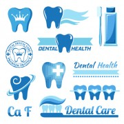Link toClassic dental logos and labels vector graphics 01 free