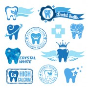 Link toClassic dental logos and labels vector graphics 02 free