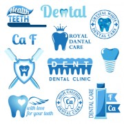 Link toClassic dental logos and labels vector graphics 04 free