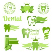Link toClassic dental logos and labels vector graphics 05 free