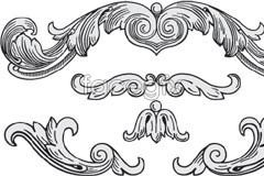 Link toClassic european-style black and white pattern vector
