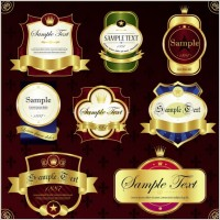 Link toClassic europeanstyle bottle stickers and patterns 01 vector