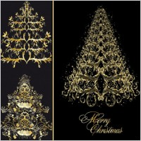 Link toClassic europeanstyle christmas tree pattern vector
