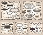 Link toClassic floral design stickers vector