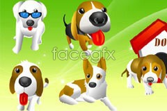 Link tovector dog cartoon funny Classic