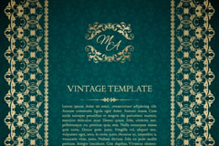 Link toClassic gold patterns card vector