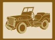 Classic military car graphics vector free