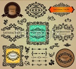 Link toClassic patterns and cards vector