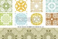 Link toClassic quartet continuous pattern vector