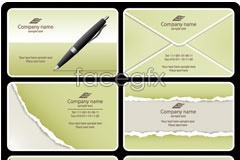 Link toClassic torn effect business card vector