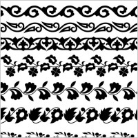 Link toClassic traditional pattern lace 02 vector