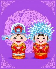 Link toClassical cartoon bride and groom pictures