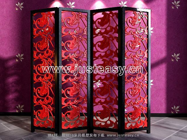 Link toClassical carved red screen 3d model (including materials)