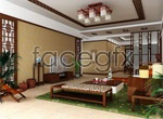Link toClassical chinese style living room 3d model