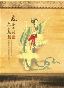 Link toClassical chinese traditional fine brushwork painting beautiful women psd