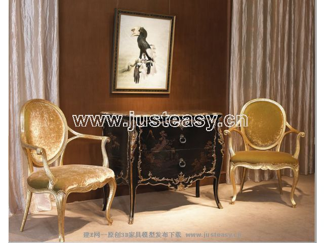 Link toClassical combination of luxury chair 3d model