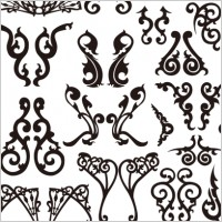 Link toClassical decorative patterns free vector graphics