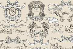 Link toClassical decorative ribbon design vector