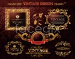Classical pattern border vector