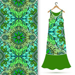 Link toClassical pattern clothing patterns vector