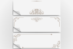Link toClassical tread pattern sticker banner vector