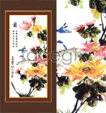 Link toClassics of traditional chinese painting-chrysanthemum psd