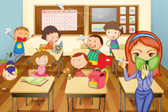 Link toClassroom cartoon vector illustration