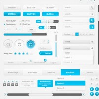 Link toClean ui element pack psd