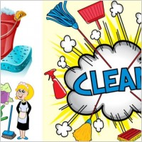 Link toClean utensils cartoon 1 vector