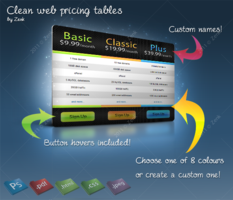 Link toClean web pricing tables -psd-