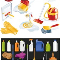 Link toCleaning supplies icon vector