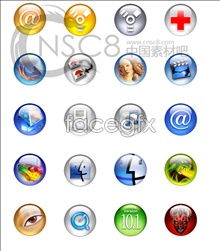 Clear crystal ball system icons