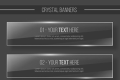 Link toClear glass banner vector